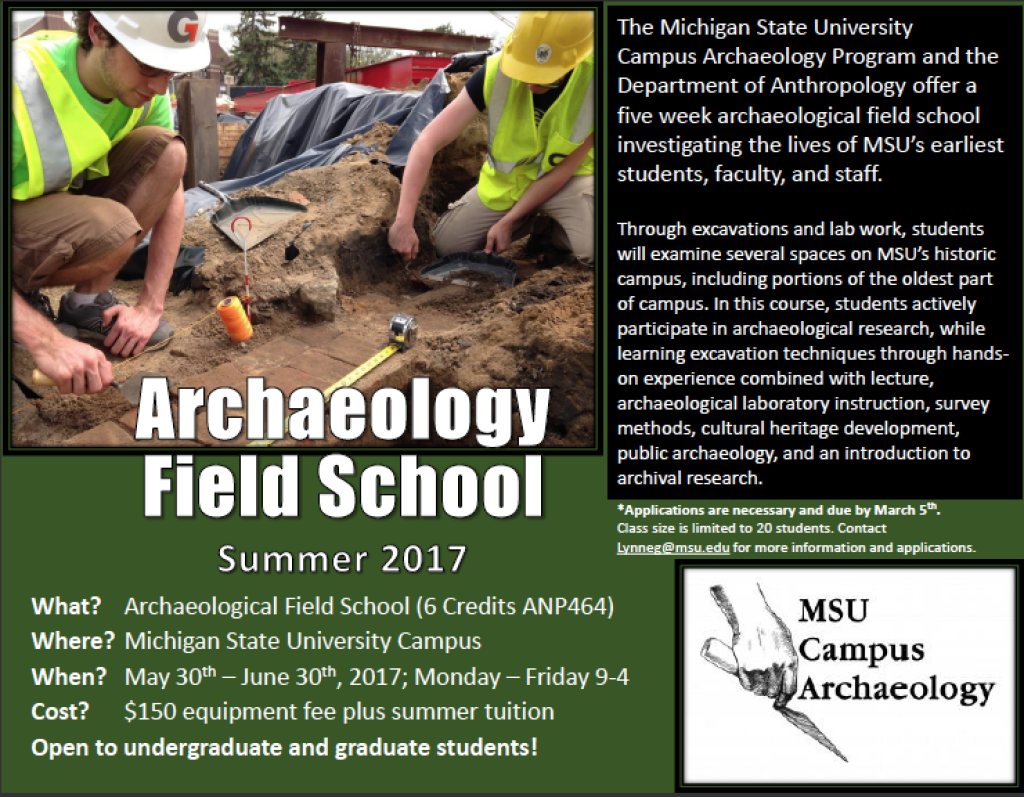 2017 Field School Flyer