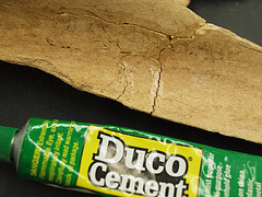 Duco Cement is great for reconstruction.