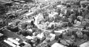 Arial photo of MSU