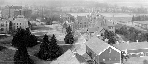 Historic view of central campus