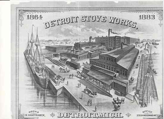 Michigan Stove Works, 1883, one of Michigan's big three when it came to producing stoves