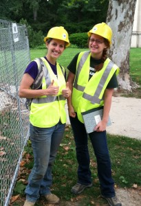 Katie Scharra and Katy Meyers working on the West Circle Steam II project