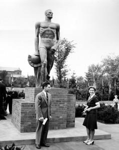 1945 Photo of Sparty, via MSU Archives