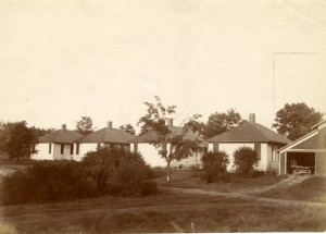 Built in 1909, these Isolation Cottages served to quarantine sick students from their peers.
