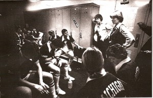 Coach Karen Langeland and the 1979 Women's Basketball Team. Courtesy MSU Archives