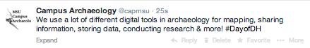 Campus Archaeology Tweet
