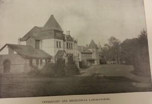 Vet lab (left), Mechanical shops (right) Courtesy MSU Archives