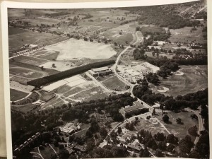 Munn Field aerial photo from 1930s
