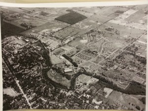 Munn Field aerial photo from 1950s