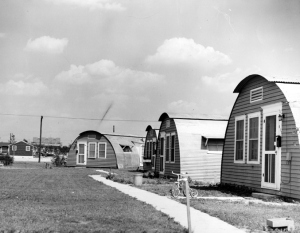 Quonset village 1950, near Munn Field. Courtesy MSU Archives