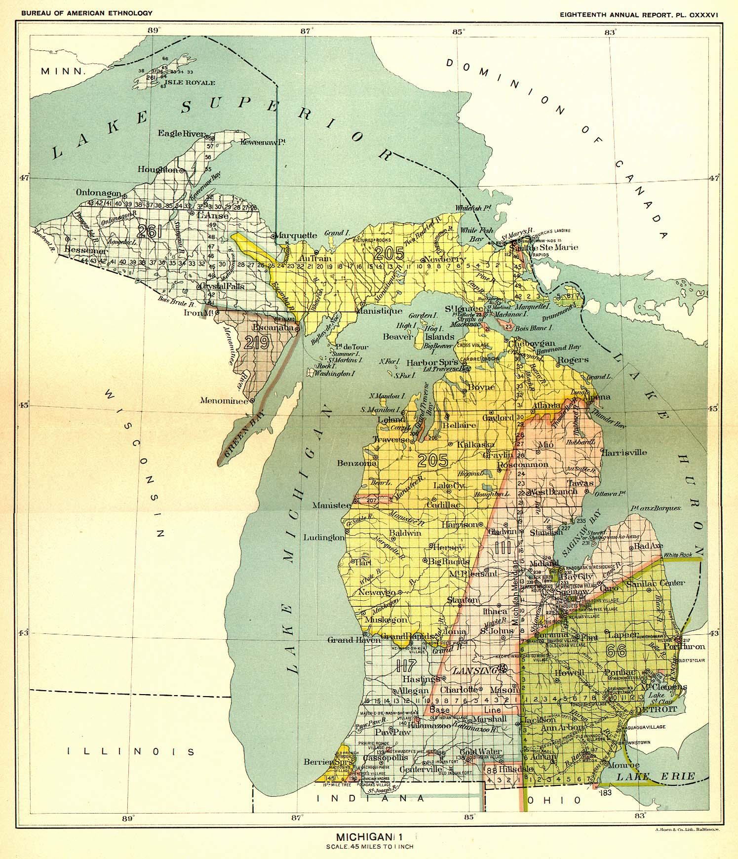 Land Use MSU Campus Archaeology Program - Map of us land treaties