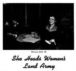 Florence Hall, chief of the Women's Land Army. Courtesy of MSU Archives.