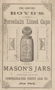 Ad for Boyd's Porcelain Lined Cap