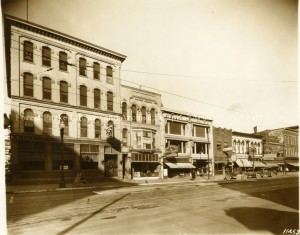 Washginton Avenue 1920's. Robinson's Drug Store second building from left to right. Image Source
