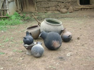 Gamo pottery from a farmer's household in southwestern Ethiopia