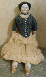 Complete doll from 1860s - Mable would have been similar