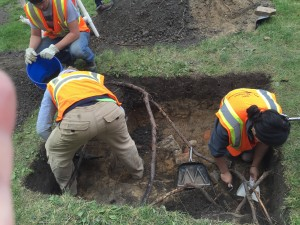 Excavations at site of old U.S. Weather Bureau