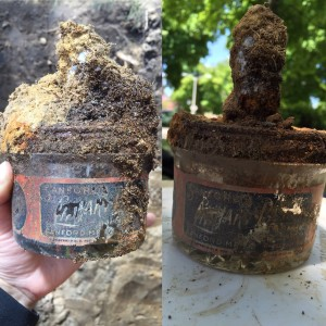 Sanford's Library Paste Jar discovered at Station Terrace - Image Source: Lisa Bright