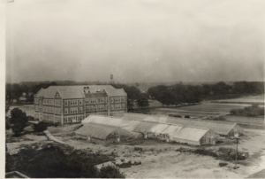 View of Old Horticulture and the Greenhouse - Image courtesy of MSU Archives & Historical Collections