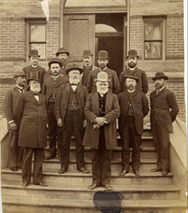 Photo of Faculty with facial hair, 1888. Image Courtesy of MSU Archives & Historical Collections