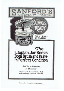 Sanford's Library Paste Utopian Jar Ad - Image Source