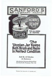 Sanford's Library Paste Utopian Jar Ad - Image Source