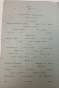 1886 Banquet Menu - Image Source: MSU Archives & Historical Collections