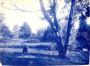 Man in the botanical garden, 1875. Image courtesy of MSU Archives & Historical Collections