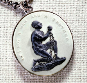 Anti-slavery medallion (courtesy of the Smithsonian Museum of American History)