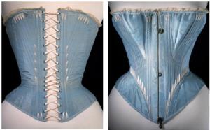Whalebone corset c. 1864. Image Source - Victoria & Albert Museum