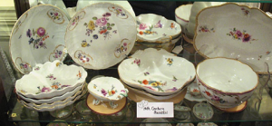Examples of Porcelain dishes produced by Meissen Potters. Image Source