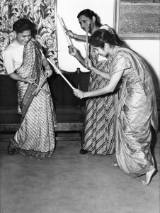 1953 Indian Stick Dance at the International Festival. Image courtesy of MSU Archives & Historical Collections