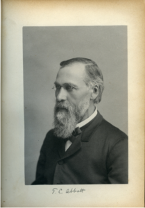 President Abbot circa 1886. Image courtesy of MSU Archives & Historical Collections