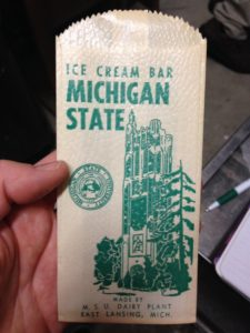 M.S.C. Dairy Ice Cream Bar wrapper Photo by S. Kooiman, courtesy of Dr. John Partridge