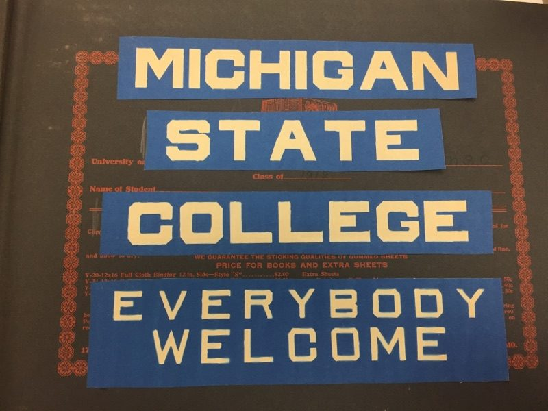 Cover Of Scrapbook Image Courtesy MSU Archives Historical Collections