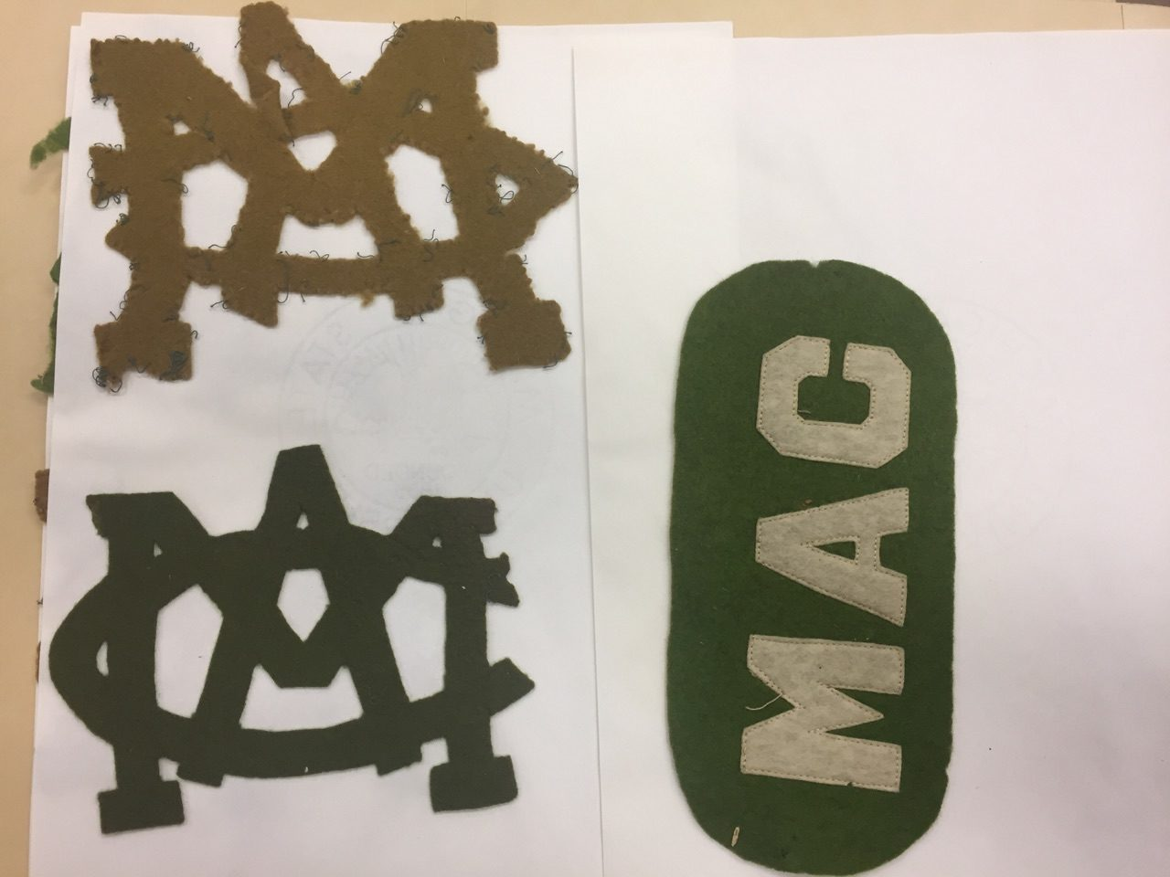 How to scrapbook on a mac - Felt Mac Letters Sewn By Male Student Scrapbook 331 Image Courtesy Of