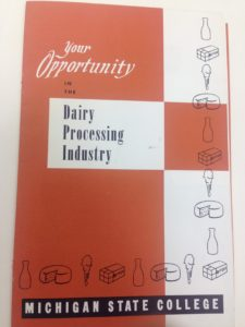 Dairy recruitment brochure, date unknown (UA 16.37, Box 521, Folder 9)