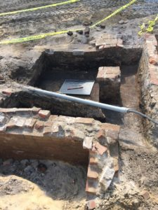 West Circle Privy after excavation.